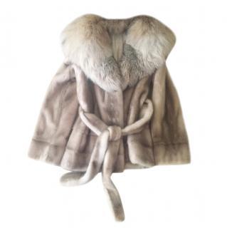 Costa Dina American Legend Hooded Mink Fur Coat