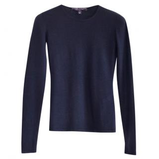Ralph Lauren Collection navy cashmere fitted jumper