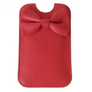 Red Valentino leather phone case
