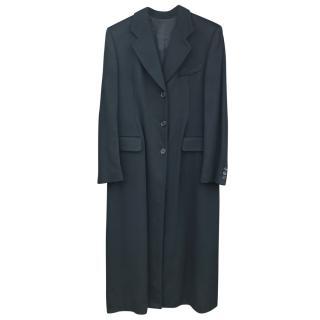 Georgio Armani Black Cashmere Coat