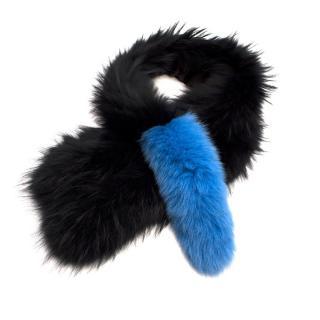 Charlotte Simone Polly Pop Raccoon Fur Scarf