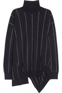 Stella McCartney Wool Pinstripe High-Neck Jumper & Trousers