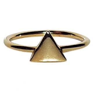 Bespoke Geometric Style Triangle Stack Ring Gold