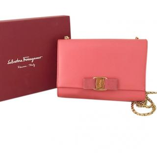 Salvatore Ferragamo Coral Vara Flap Bag
