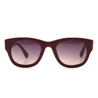 Markus Lupfer Two-tone Glitter Squared Sunglasses