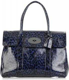 Mulberry Leopard Print Patent Bayswater Bag