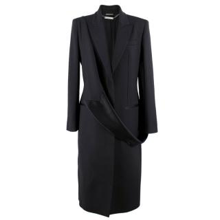 Alexander McQueen Men�s Black Silk-Wool Blend Coat