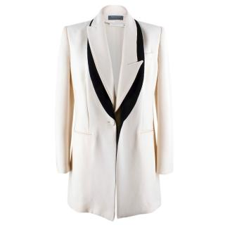 Alexander McQueen Cream Jacket with Black Trim