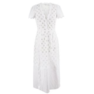 Alice McCall White Cotton Beach Cover Up Dress