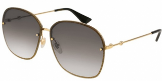 Gucci Gold Rim Aviator Sunglasses
