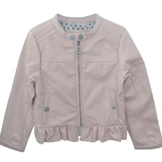 Michael Michael Kors girl's pink pearl biker jacket