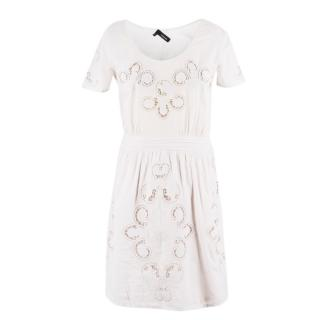 The Kooples Beige Cotton Paisley Dress