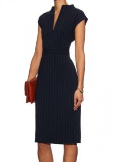 Max Mara Blue & White Striped Dress