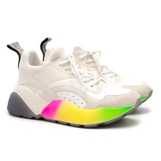 Stella McCartney White Eclypse Rainbow Sneakers