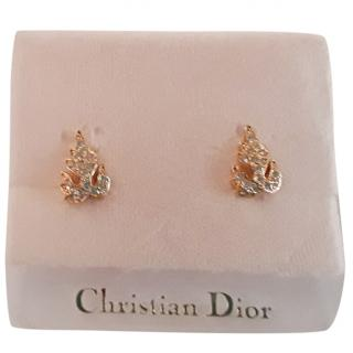 Christian Dior Gold Plated Vintage Clip On Earrings