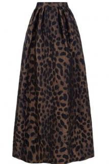 PINKO Leopard Maxi Skirt