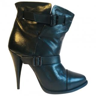 Givenchy Black Nappa Double Buckle Boots