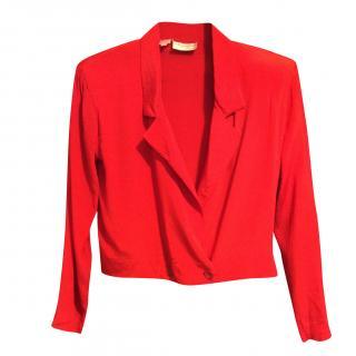 Christian Dior Vintage Red Silk Jacket