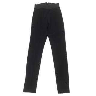 Stella McCartney black fitted stretch trousers
