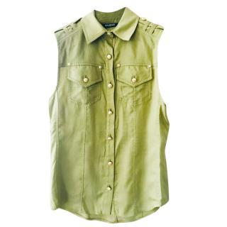Balmain Sleeveless Green Shirt