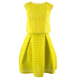 Pinko Yellow Neon Skirt and Top Set