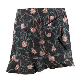 Isabel Marant Mouna Floral-print Ruffle Mini Skirt