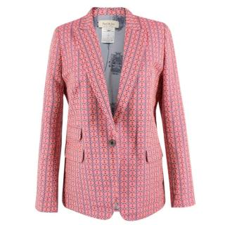 Paul & Joe Pink Aztec Patterned Blazer