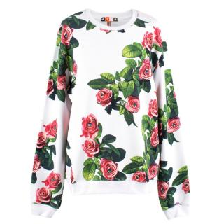 MSGM Rose & Eye Print Sweater
