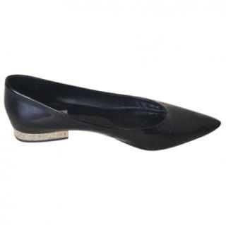 Max Mara Black Pointed Toe Ballet Flats