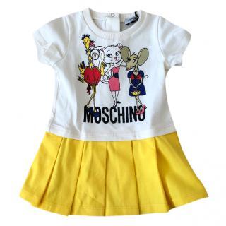 Moschino baby girl cartoon mice dress