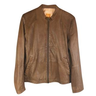 Hugo Boss Jips 7 Leather Biker Jacket