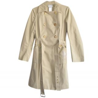 Celine beige double breasted trench coat