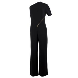 Stella McCartney Black One Shoulder Jumpsuit