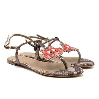 Anya Hindmarch Python Space Invader Sandals