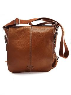 Tods Men's Brown Leather Cross-Body Messenger Bag
