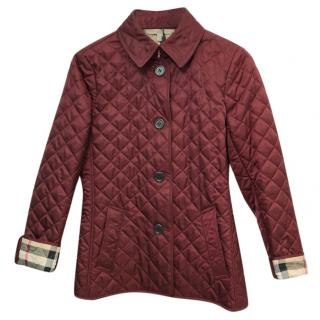 Burberry Brit Quilted Burgundy Jacket