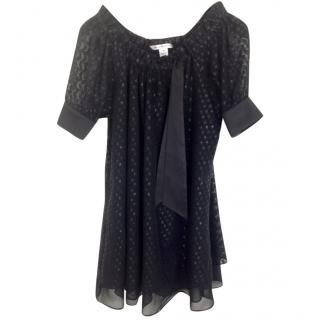 DVF  Silk top with dots