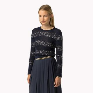 Tommy Hilfiger Gigi Hadid Mohair black sequin Knit Jumper Sweater