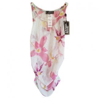 Versace mesh floral top