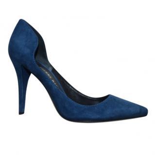 Pierre Balmain blue suede pumps