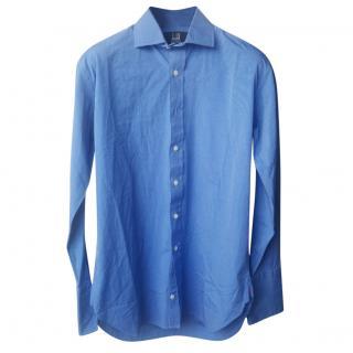 Dunhill Men's Blue Double Cuff Shirt