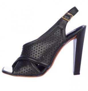 Celine Perforated Sling Back Sandals