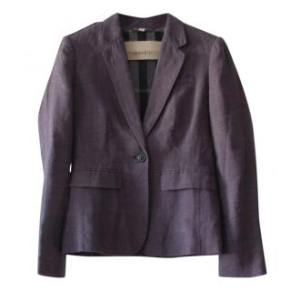 Burberry Navy Linen Blazer