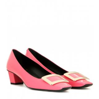 Roger Vivier Pink Belle Vivier Patent Leather Pumps