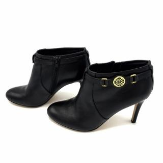 Coach Black Leather Ankle Boots NEW