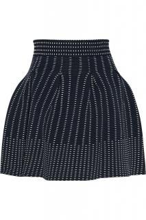 Maje Knit High Waisted Puffball Skirt