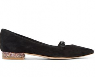 Sophia Webster Piper Embellished Suede Ballet Flats