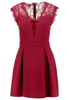 BCBGeneration Lace Back Pleated Mini Dress
