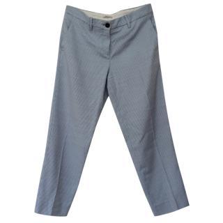 Miu Miu wool blend gingham trousers