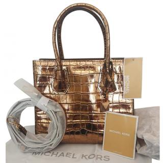 Michael Michael Kors Medium Gold Mercer Cross Body Bag